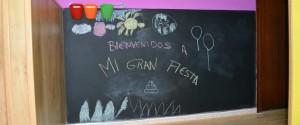 Pizarra Bienvenidos a Mi Gran Fiesta  www.migranfiesta.es