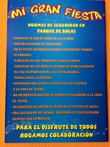 Normas de seguridad parque de bolas | Mi Gran Fiesta