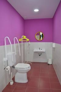 Aseo de minusválidos y femenino, barras de apoyo, secador   www.migranfiesta.es
